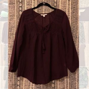 American Eagle Outfitters - Burgundy Long Sleeve